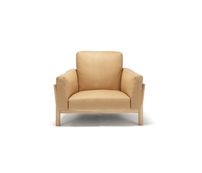 [가리모쿠KNS] 캐스터 소파 CASTOR SOFA 1-SEATER LEATHER / PURE OAK