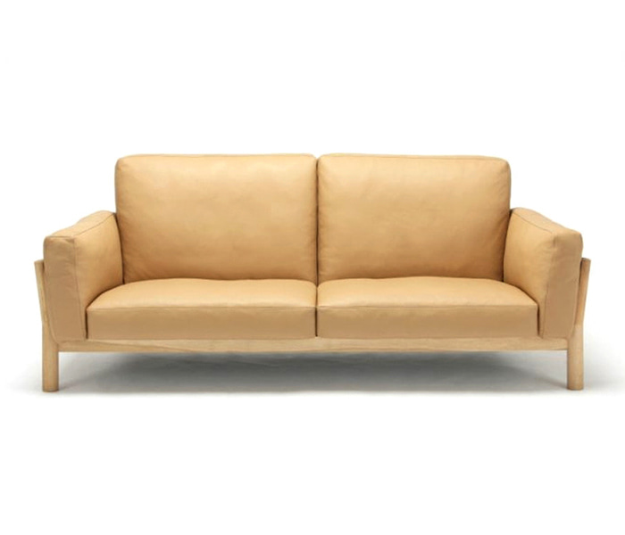 [가리모쿠KNS] 캐스터 소파 CASTOR SOFA 3-SEATER LEATHER / PURE OAK