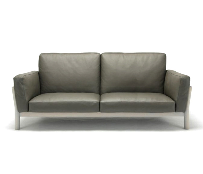 [가리모쿠KNS] 캐스터 소파 CASTOR SOFA 3-SEATER Leather / DARK GRAY