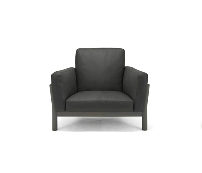 [가리모쿠KNS] 캐스터 소파 CASTOR SOFA 1-SEATER Leather / BLACK