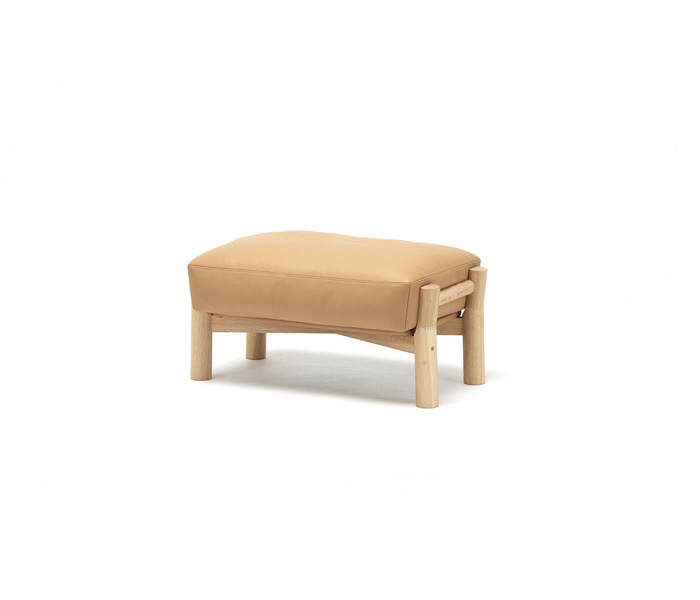 [가리모쿠KNS] 캐스터 소파 오토만 CASTOR SOFA OTTOMAN LEATHER / PURE OAK