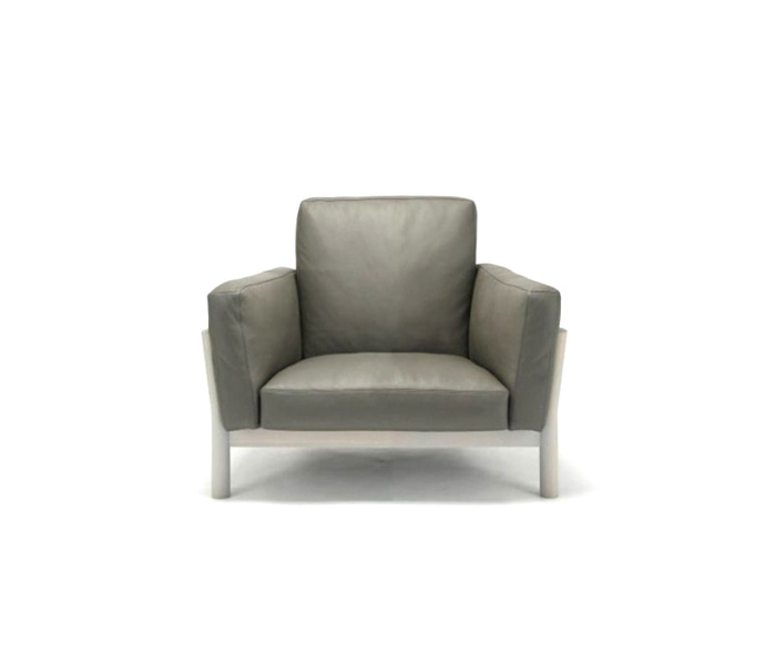 [가리모쿠KNS] 캐스터 소파 CASTOR SOFA 1-SEATER LEATHER / DARK GRAY