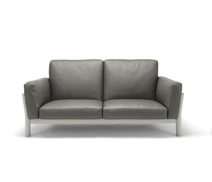 [가리모쿠KNS] 캐스터 소파 CASTOR SOFA 2-SEATER Leather / DARK GRAY