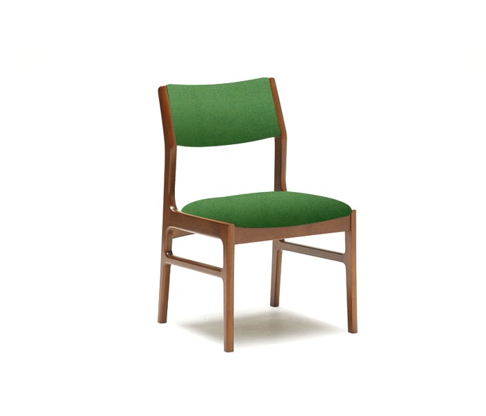 [가리모쿠60] 암리스 다이닝체어 ARMLESS DINING CHAIR trap green / walnut
