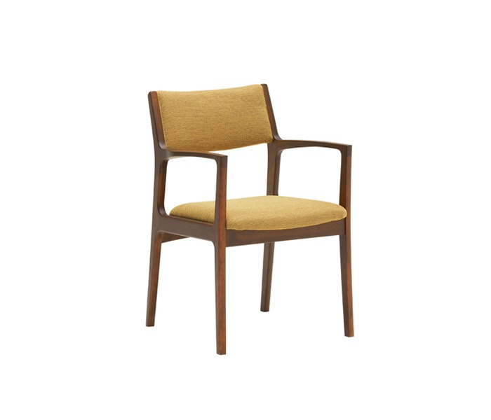 [가리모쿠60] 다이닝체어 DINING CHAIR mustard yellow / walnut